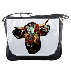 Artistic Cow Messenger Bags