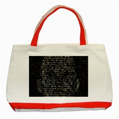 Silent Classic Tote Bag (red) by Valentinaart