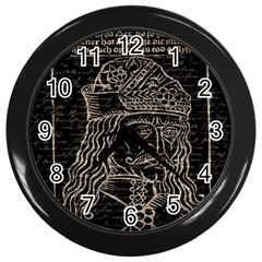 Count Vlad Dracula Wall Clocks (black) by Valentinaart