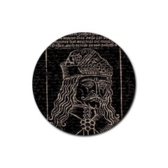 Count Vlad Dracula Rubber Round Coaster (4 Pack)
