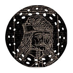 Count Vlad Dracula Round Filigree Ornament (two Sides)