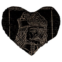 Count Vlad Dracula Large 19  Premium Heart Shape Cushions