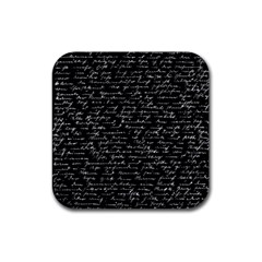 Handwriting  Rubber Square Coaster (4 Pack)  by Valentinaart
