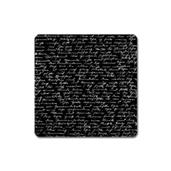 Handwriting  Square Magnet by Valentinaart