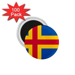 Flag Of Aland 1 75  Magnets (100 Pack)  by abbeyz71