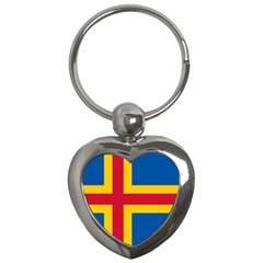 Flag Of Aland Key Chains (heart)  by abbeyz71