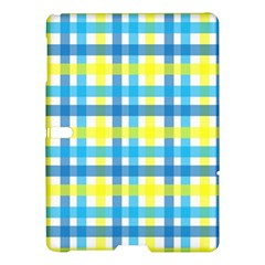Gingham Plaid Yellow Aqua Blue Samsung Galaxy Tab S (10 5 ) Hardshell Case  by Simbadda
