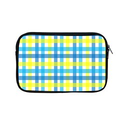 Gingham Plaid Yellow Aqua Blue Apple Macbook Pro 13  Zipper Case by Simbadda