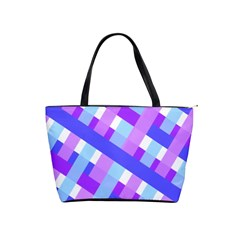 Geometric Plaid Gingham Diagonal Shoulder Handbags by Simbadda