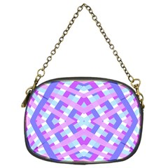 Geometric Gingham Merged Retro Pattern Chain Purses (one Side)