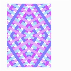 Geometric Gingham Merged Retro Pattern Small Garden Flag (two Sides) by Simbadda