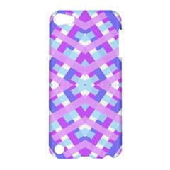 Geometric Gingham Merged Retro Pattern Apple Ipod Touch 5 Hardshell Case by Simbadda
