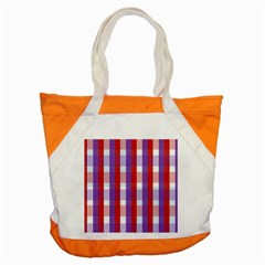 Gingham Pattern Checkered Violet Accent Tote Bag