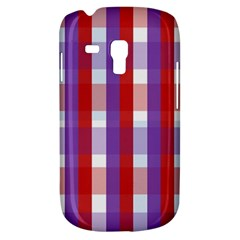 Gingham Pattern Checkered Violet Galaxy S3 Mini