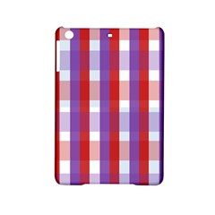 Gingham Pattern Checkered Violet Ipad Mini 2 Hardshell Cases by Simbadda