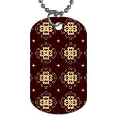 Seamless Ornament Symmetry Lines Dog Tag (two Sides)