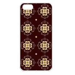 Seamless Ornament Symmetry Lines Apple Iphone 5 Seamless Case (white) by Simbadda