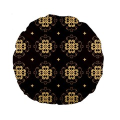 Seamless Ornament Symmetry Lines Standard 15  Premium Round Cushions by Simbadda