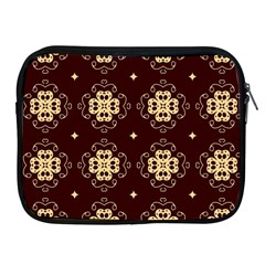 Seamless Ornament Symmetry Lines Apple Ipad 2/3/4 Zipper Cases