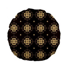 Seamless Ornament Symmetry Lines Standard 15  Premium Flano Round Cushions