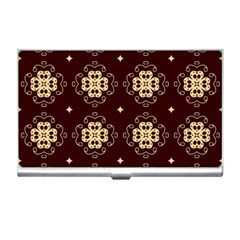 Seamless Ornament Symmetry Lines Business Card Holders