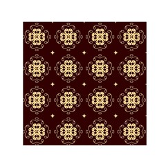 Seamless Ornament Symmetry Lines Small Satin Scarf (square) by Simbadda