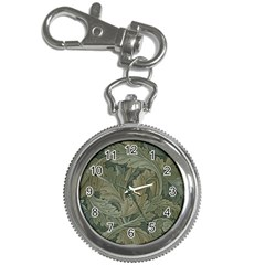 Vintage Background Green Leaves Key Chain Watches by Simbadda