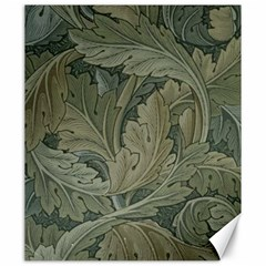 Vintage Background Green Leaves Canvas 20  X 24   by Simbadda
