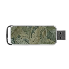 Vintage Background Green Leaves Portable Usb Flash (two Sides) by Simbadda