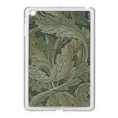 Vintage Background Green Leaves Apple Ipad Mini Case (white) by Simbadda