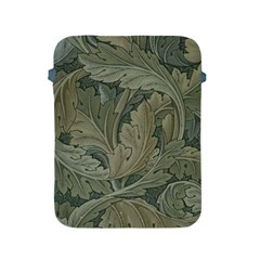 Vintage Background Green Leaves Apple Ipad 2/3/4 Protective Soft Cases by Simbadda