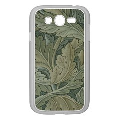 Vintage Background Green Leaves Samsung Galaxy Grand Duos I9082 Case (white) by Simbadda