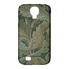 Vintage Background Green Leaves Samsung Galaxy S4 Classic Hardshell Case (pc+silicone) by Simbadda