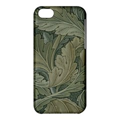 Vintage Background Green Leaves Apple Iphone 5c Hardshell Case by Simbadda