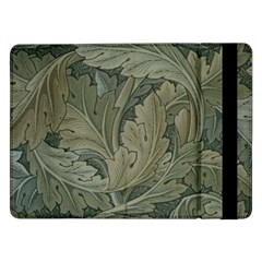 Vintage Background Green Leaves Samsung Galaxy Tab Pro 12 2  Flip Case by Simbadda