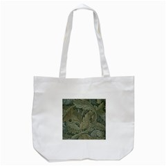 Vintage Background Green Leaves Tote Bag (white)
