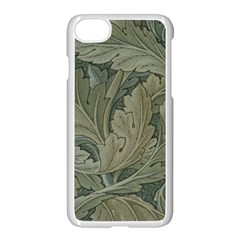 Vintage Background Green Leaves Apple Iphone 7 Seamless Case (white)
