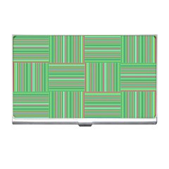 Geometric Pinstripes Shapes Hues Business Card Holders