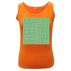 Geometric Pinstripes Shapes Hues Women s Dark Tank Top by Simbadda
