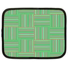 Geometric Pinstripes Shapes Hues Netbook Case (large) by Simbadda