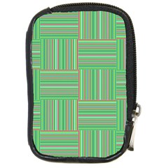 Geometric Pinstripes Shapes Hues Compact Camera Cases by Simbadda