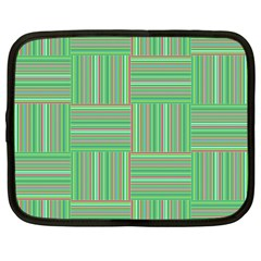 Geometric Pinstripes Shapes Hues Netbook Case (xl)