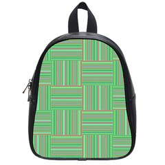 Geometric Pinstripes Shapes Hues School Bags (small)  by Simbadda