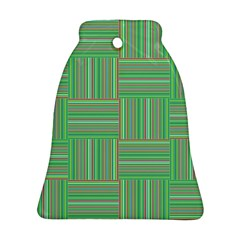 Geometric Pinstripes Shapes Hues Ornament (bell) by Simbadda