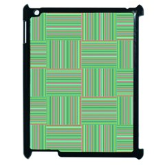 Geometric Pinstripes Shapes Hues Apple Ipad 2 Case (black) by Simbadda