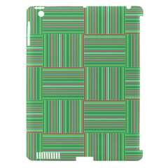 Geometric Pinstripes Shapes Hues Apple Ipad 3/4 Hardshell Case (compatible With Smart Cover) by Simbadda