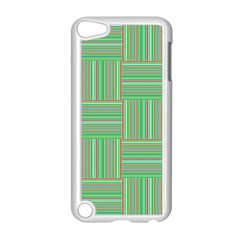 Geometric Pinstripes Shapes Hues Apple Ipod Touch 5 Case (white) by Simbadda
