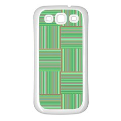 Geometric Pinstripes Shapes Hues Samsung Galaxy S3 Back Case (white)