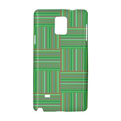 Geometric Pinstripes Shapes Hues Samsung Galaxy Note 4 Hardshell Case by Simbadda