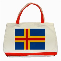 Flag Of Aland Classic Tote Bag (red) by abbeyz71